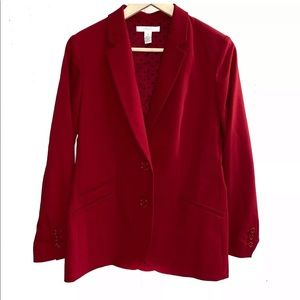 Chico's Red Blazer Size 1 Women's Button Down